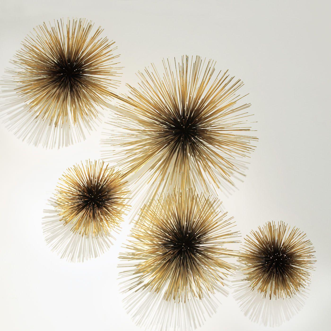 C Jere Brass Urchin Sculpture Wall Art Modern Wall Sculptures