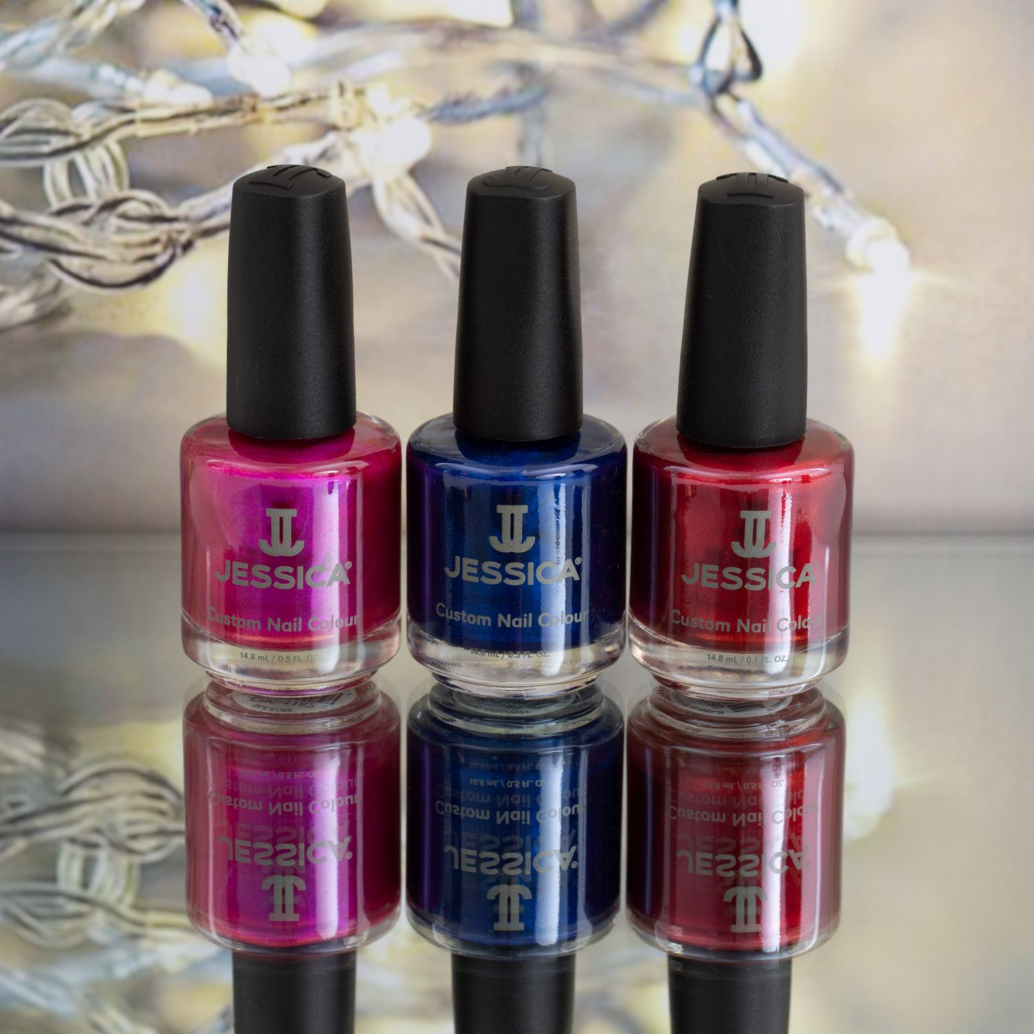Jessica Christmas Nails: Silk Robe, Majestic Crown & The Queen's Jewels (With