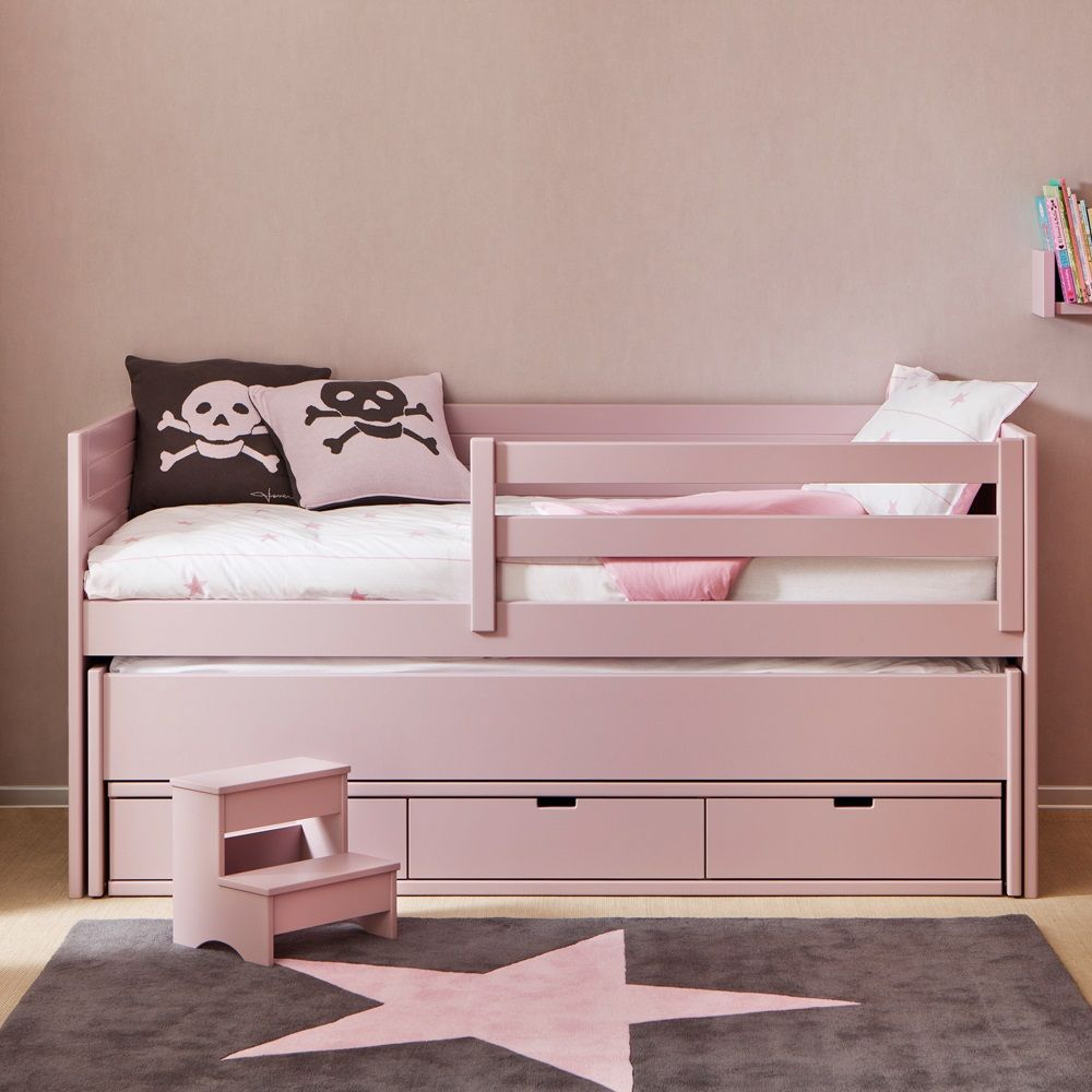 Best Bedroom Kids Cometa Bed With Trundle Drawers Girls Beds 400 x 300