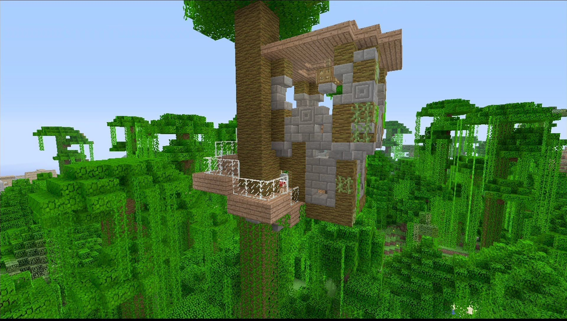 How to Build a Cool Tree House in Minecraft