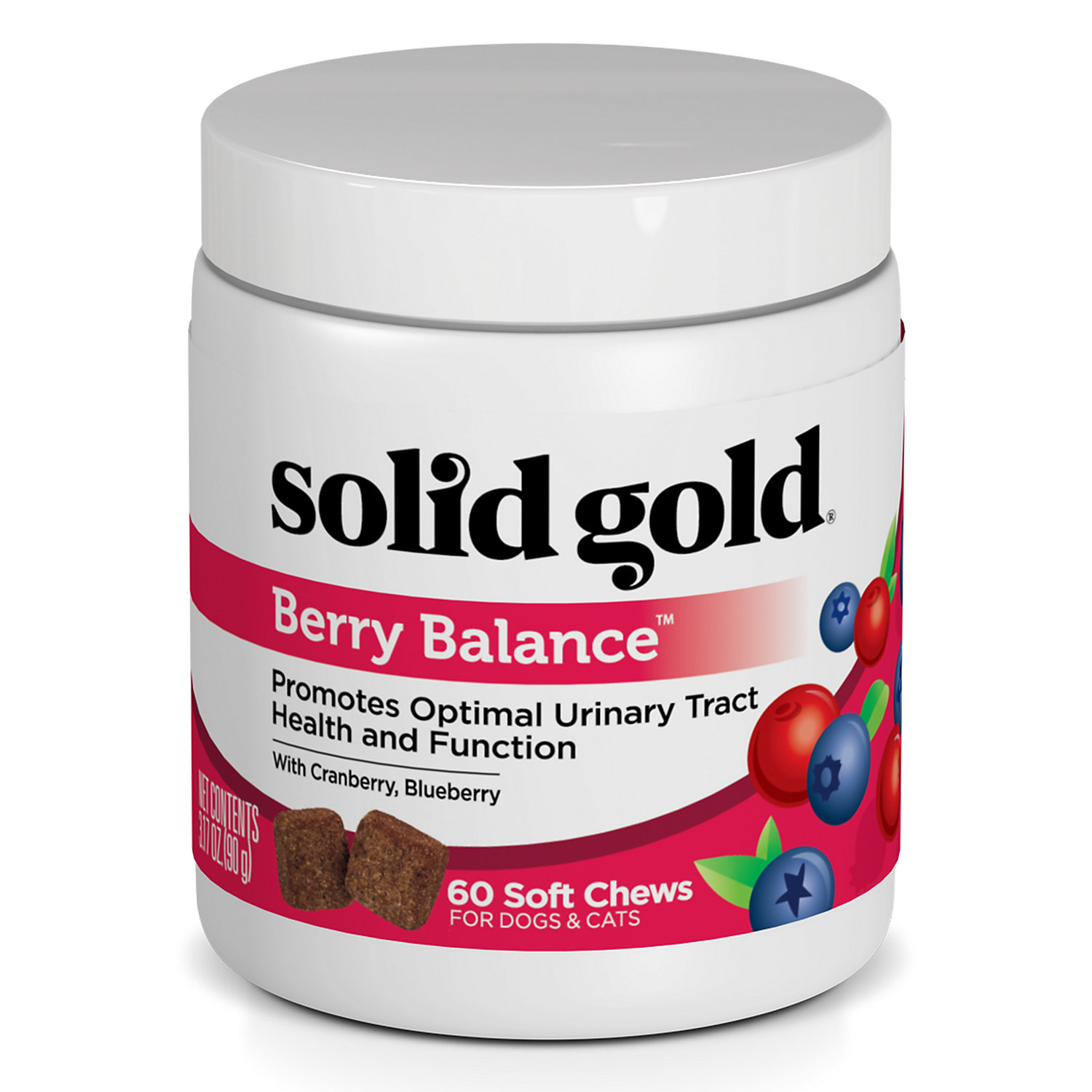 Solid Gold Berry Balance Supplement Chews For Urinary Tract Health