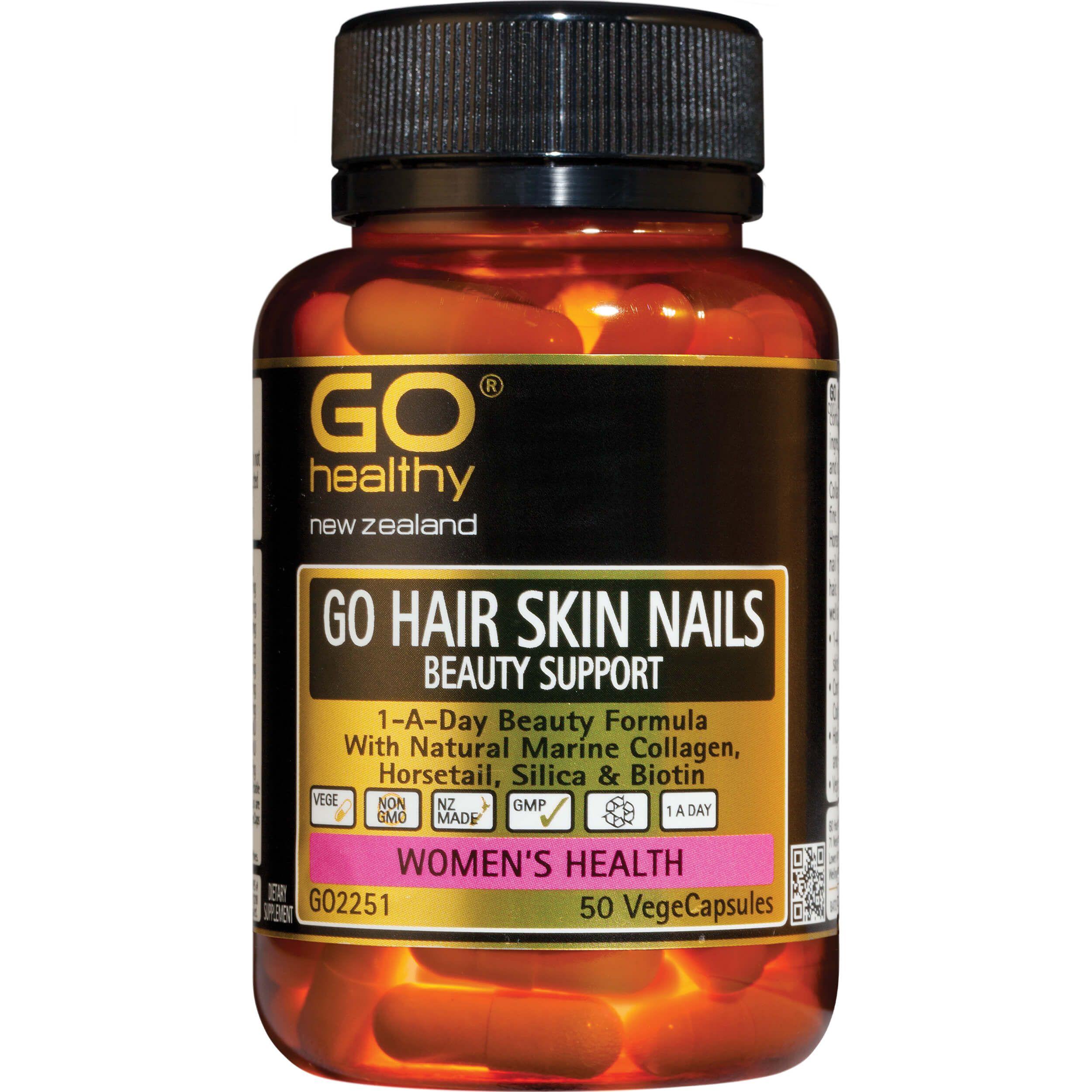 GO Healthy GO Hair Skin Nails Beauty Support VegeCapsules