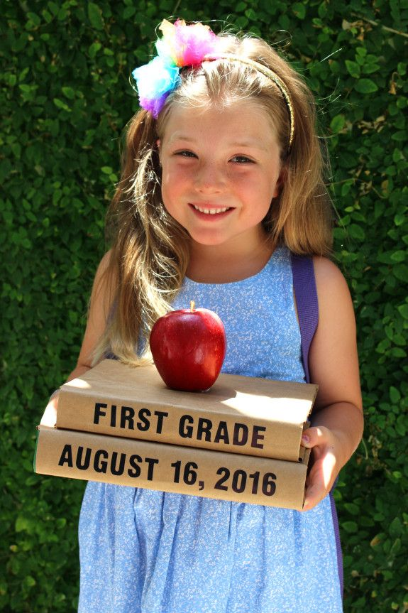 Back to School Photo ideas so you can document each year ... First Photograph Date