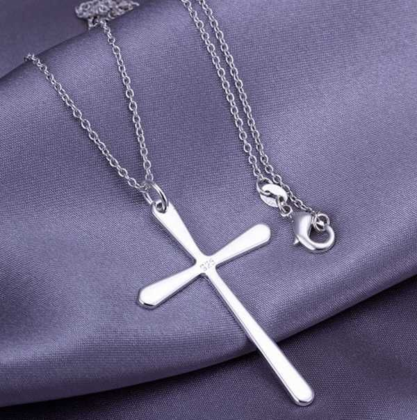 Wholesale silver plated pendant925 fashion silver jewelry bright cheap silver plated necklace buy quality cross pendant necklace directly from china necklace long suppliers silver plated fashion jewelry pendant necklace aloadofball Images
