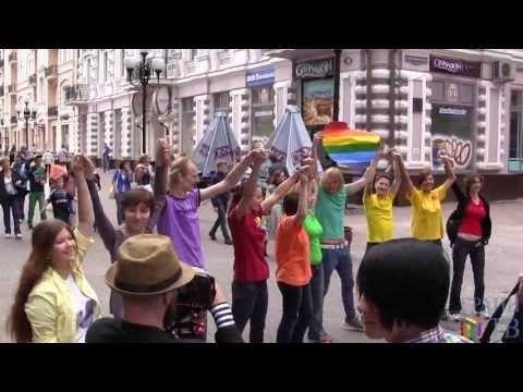 Милонов против ЛГБТ. Представление на Арбате