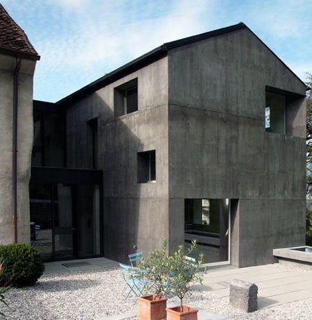 Maison et atelier casacura par atelier f extension pour for Agence architecture suisse