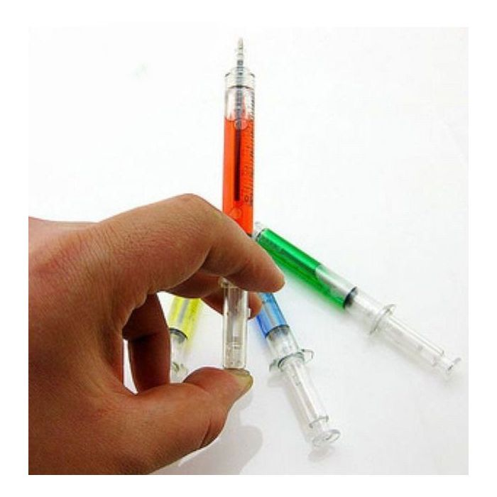 Kanylekuglepenne røde, gule og hvide