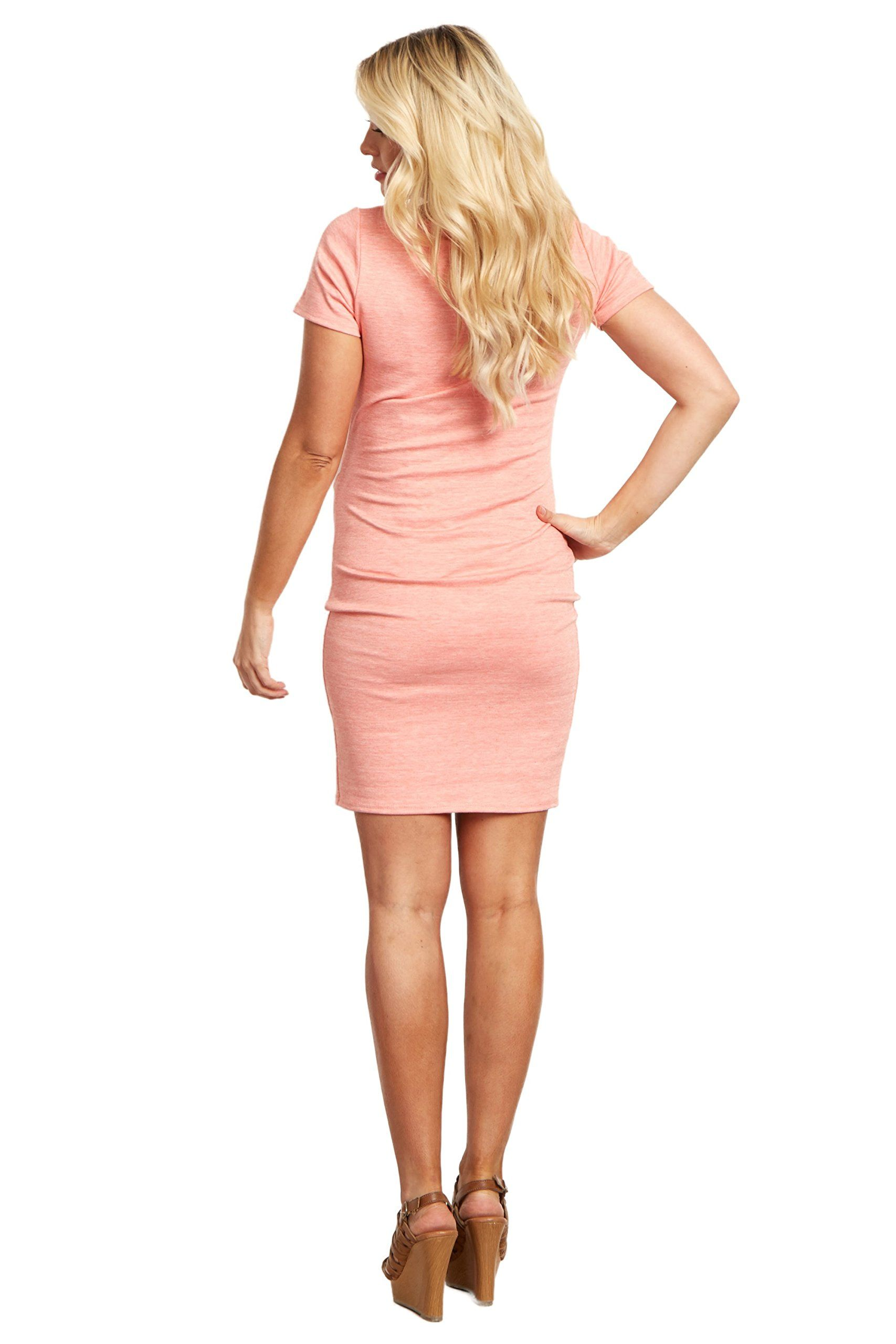 2c7c4d47b76 Maternity Fashion - machine washable maternity dresses   PinkBlush Maternity  Coral Short Sleeve Fitted Tall Maternity Dress Small     Find out even more  ...