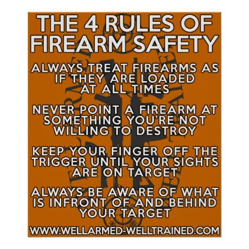 The four rules of firearm safety poster gun rights defend them the four rules of firearm safety poster gun rights defend them through education ignorance fear fandeluxe Choice Image