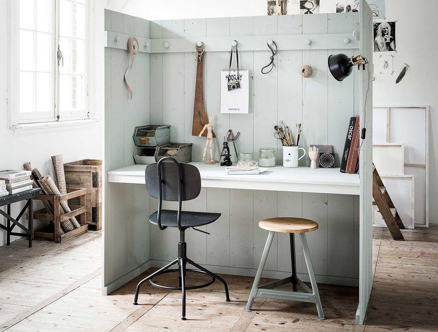 Minimalistisch interieur werkplek interieur inspiratie witte