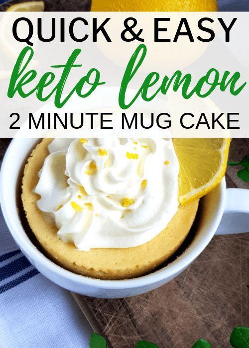 Easy Keto Lemon Mug Cake | Recipe | KETO Desserts & Sweets ...