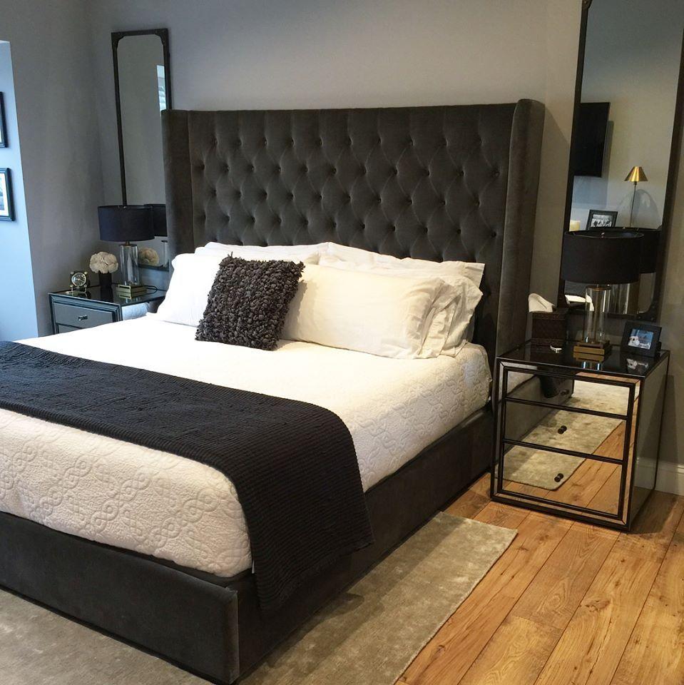 """restoration hardware tufted adler bed 68"""" height king"""