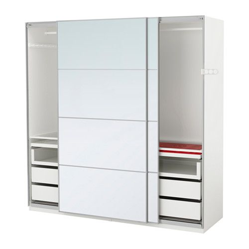 IKEA - PAX, Wardrobe, 200x66x201 cm, soft closing device, , 10 ...