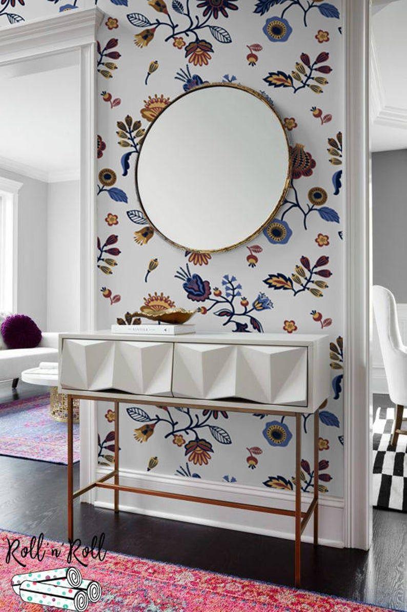 Abstract floral wallpaper, Modern pattern wall mural