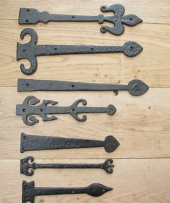 1 Pair Black Antique Gothic Tudor Cast Iron Dummy False Hinge Fronts Other Door Accessories Doors Door Acces Rustic Doors Door Accessories Antique Hinges