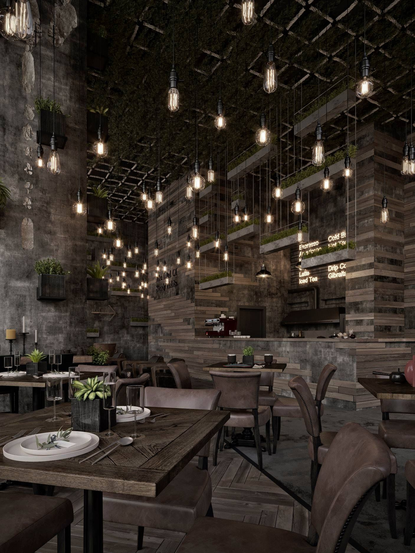 Qatar Calm Street Cafe In 2020 Restaurant Lighting Design Modern Restaurant Design Cafe Interior Design