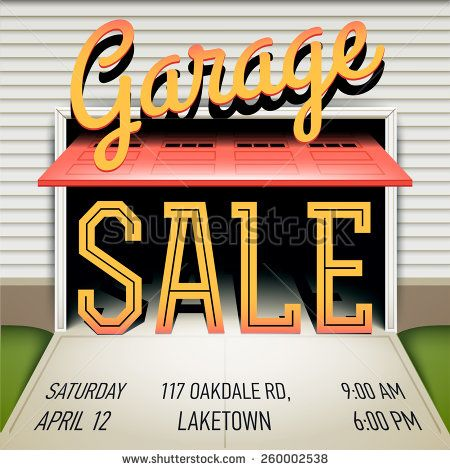Creative Vector Colorful Garage Or Yard Sale Event Square Web