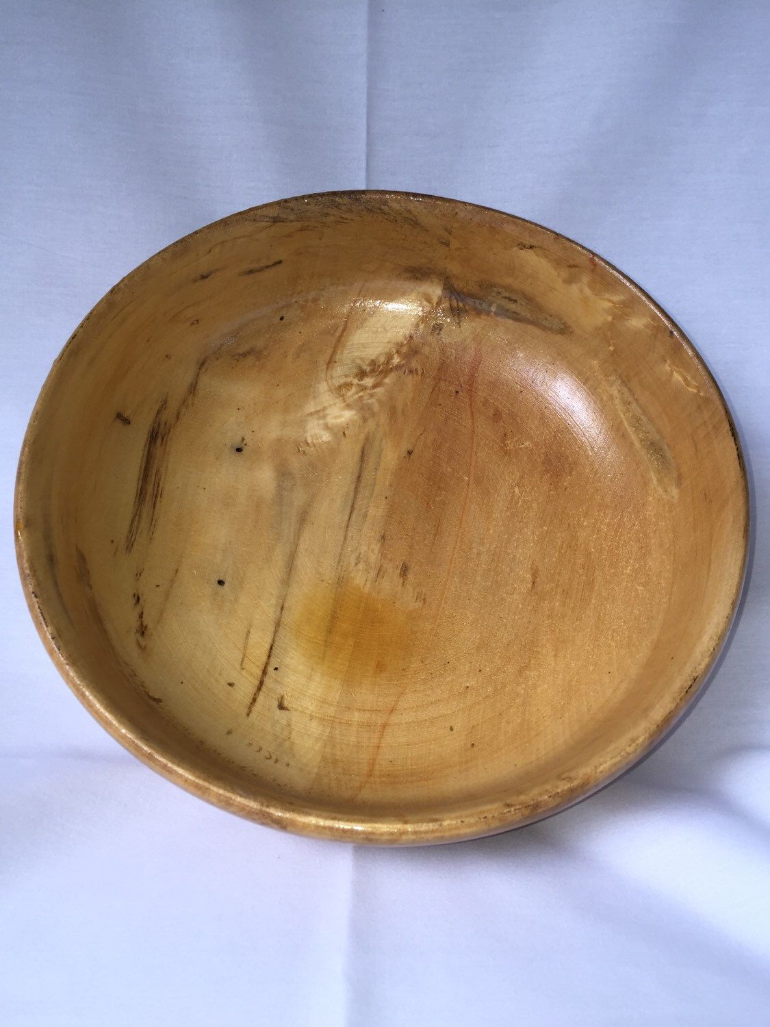 A personal favorite from my Etsy shop https://www.etsy.com/listing/231829787/unique-wormy-maple-handmade-bowl-hand