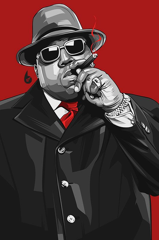 The Notorious BIG on Behance Notorious big art, Tupac