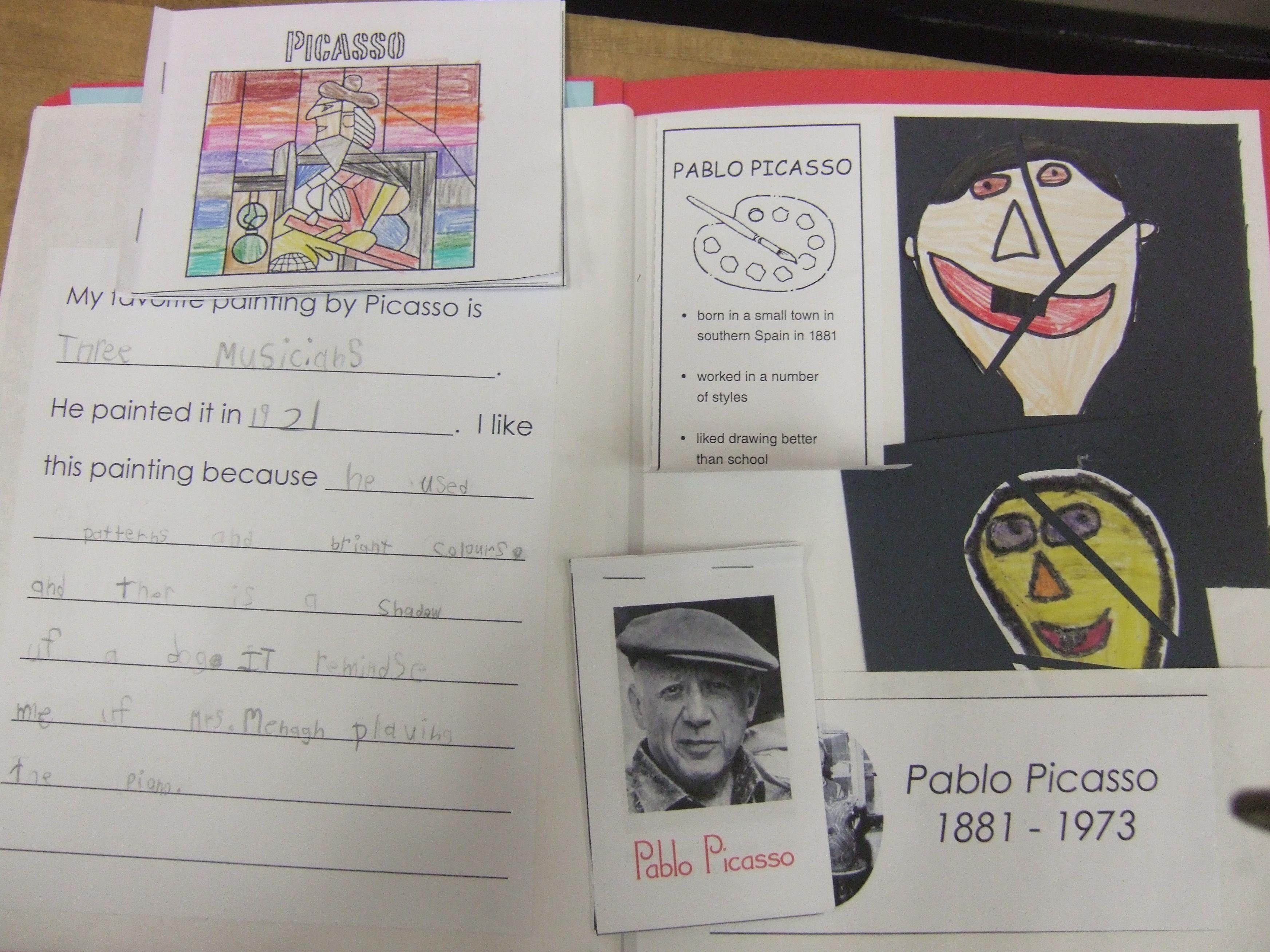 Artist Lapbook - Picasso | LINC stuff | Pinterest | Homeschool