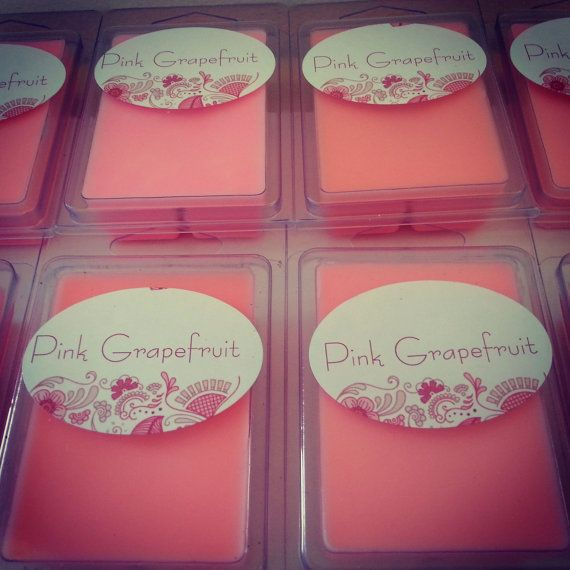 Pink Grapefruit Aromatherapy Melt Natural by MoonLakeCandles