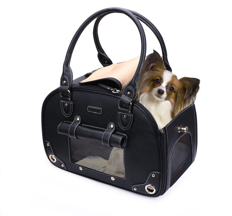 Petshome Dog Carrier Purse Pet Purse Foldable Waterproof Premium Leather Pet Travel Portable Bag Carrier For Dog Carrier Purse Small Dog Carrier Dog Carrier
