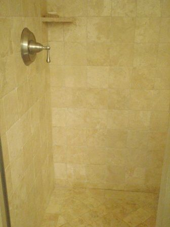 Cleaning A Travertine Shower They Recommend Mb 1 Soap