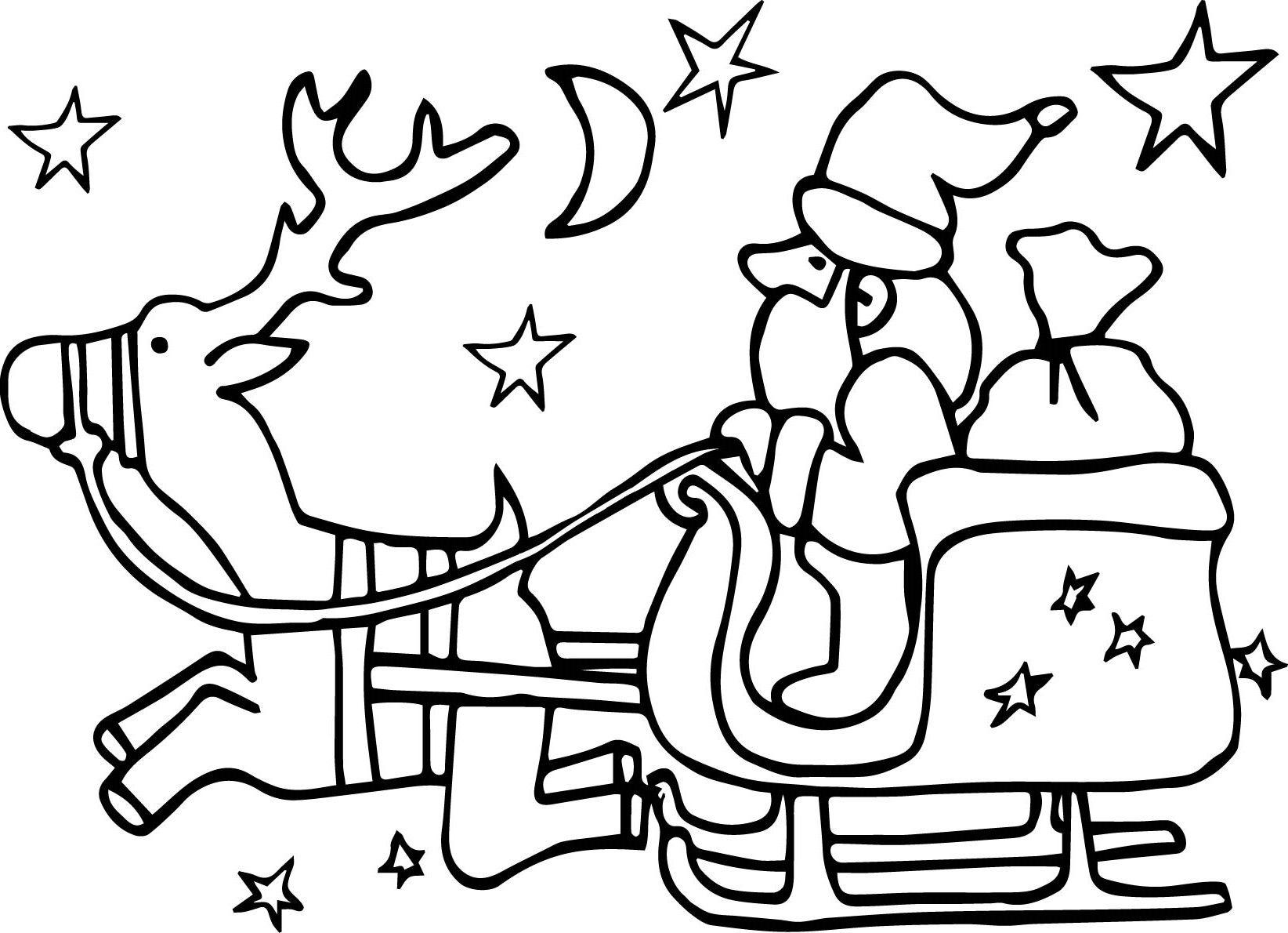 Yilbasi Noel Baba Ve Geyik Boyama Sayfasi Wallpaper Noel Baba