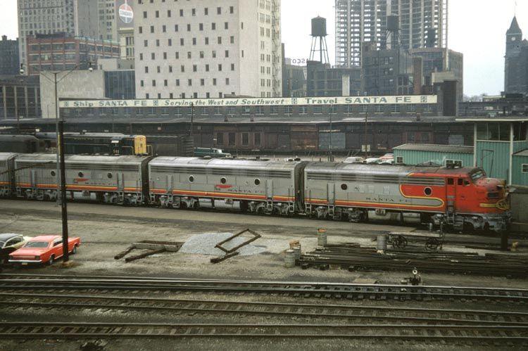 Bob Coolidge's Web Site Railroad art, Train, Santa fe