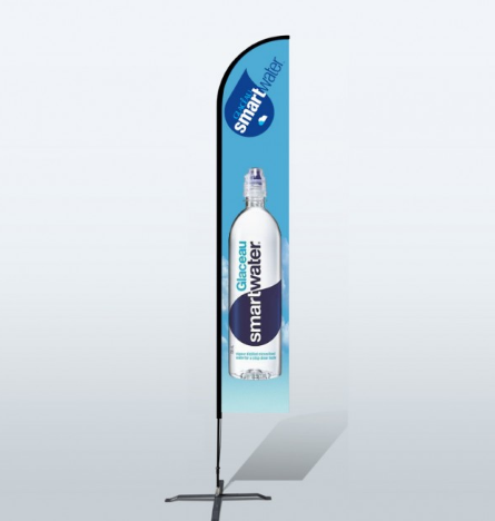 12ft Custom Straight Flags (Large) | Promotional Flags