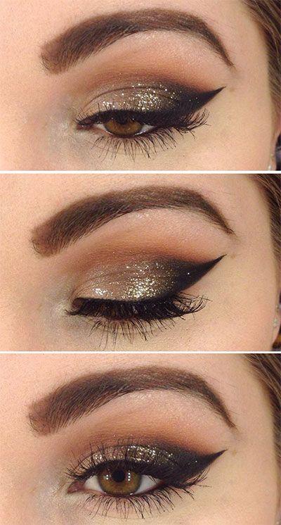 15+ Best Winter Themed Eye Makeup Looks, Ideen und Trends 2018 - Neue Trend & Haar & Tatto & Unterwäsche Bilds #dancemakeup