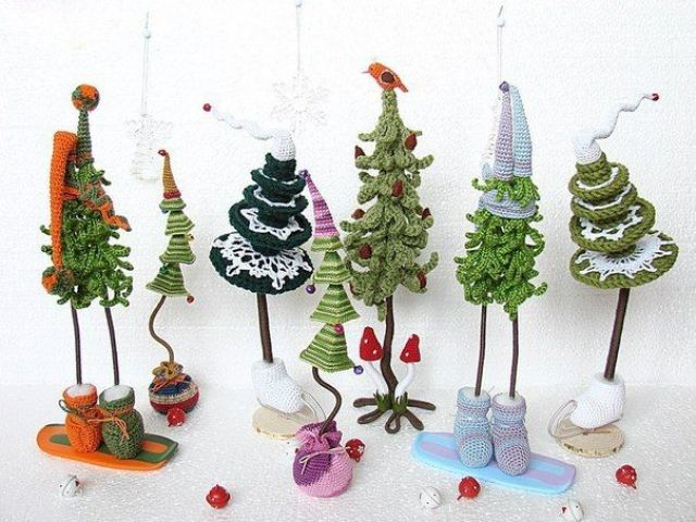 I found it! the tutorial for this lovely trees! #crochet | Navidad ...