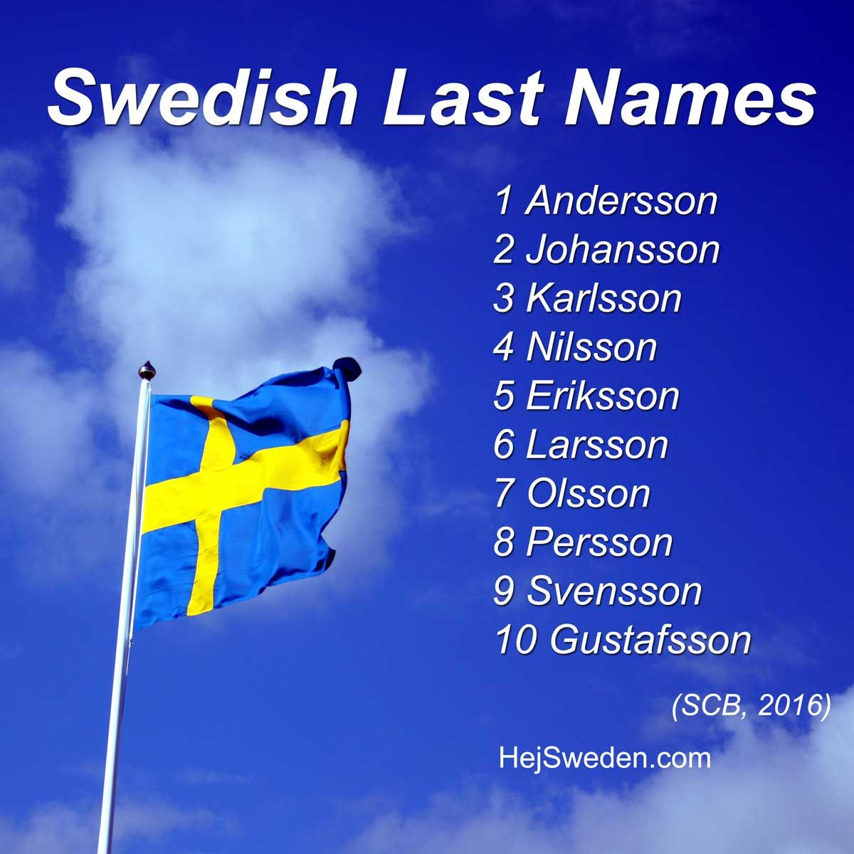 Top 100 Most Common Swedish Surnames Son Quist Strom Co 2019 Hej Sweden Swedish Ancestry Swedish Names Swedish Language