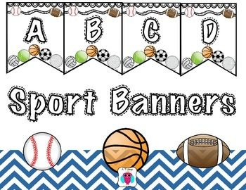 Sport Banners Sports Theme Classroom Sports Day Banner Sport
