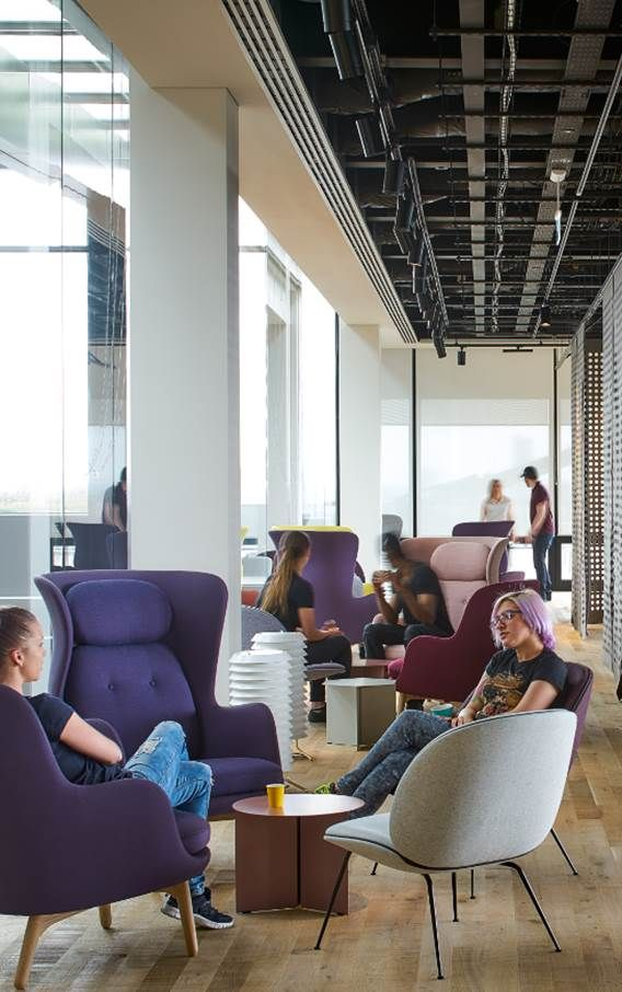 google office in uk. break out areas, google offices, london uk by ahmm architects office in uk s
