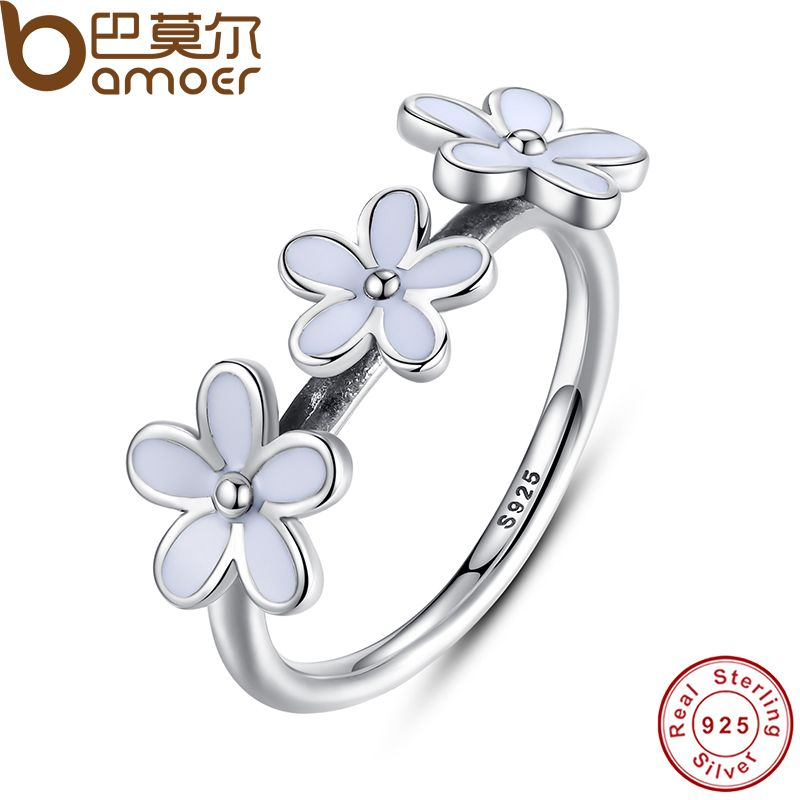 Slyq Jewelry Gold Color Ring Silver Female Triple rose gold engagement Ring