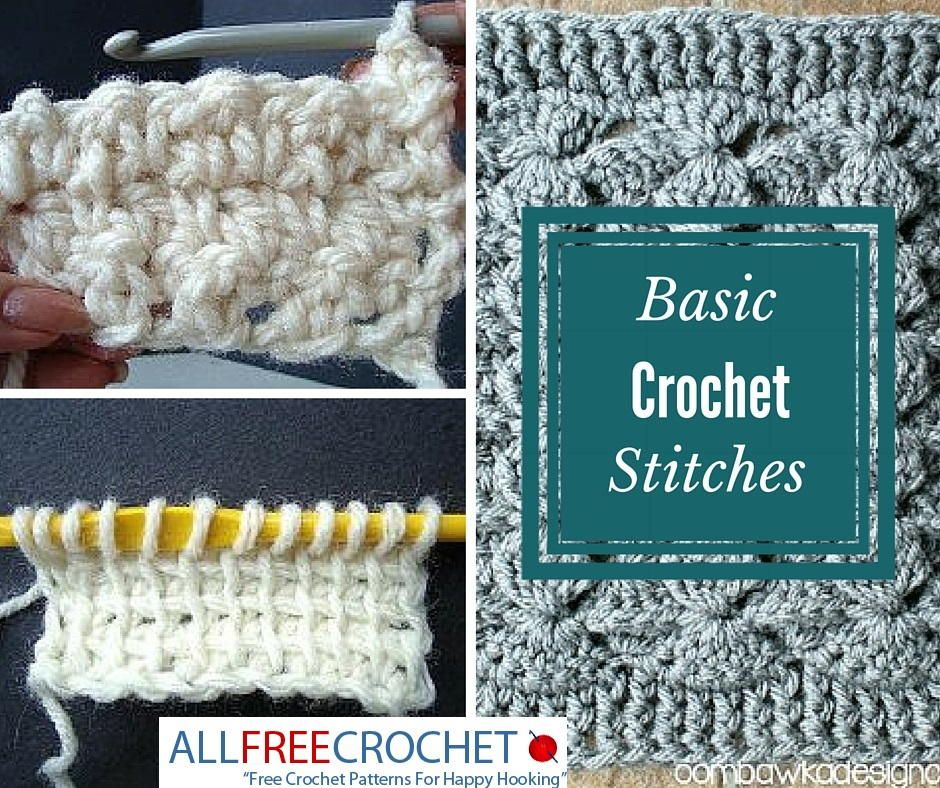 20 Basic Crochet Stitches Basic Crochet Stitches Crochet