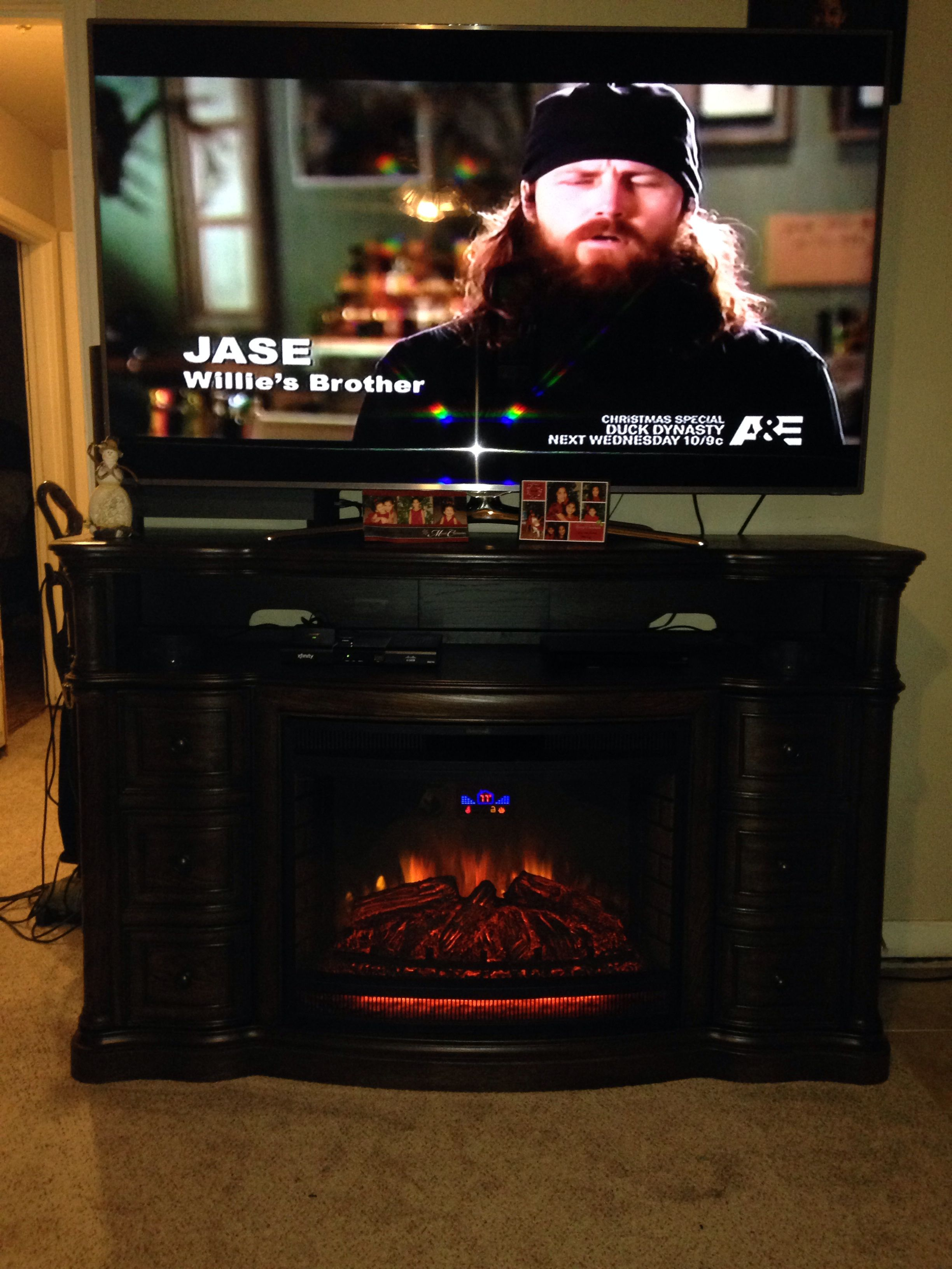 Fireplace tv stand! Another reason why I <3 Sams warehouse!