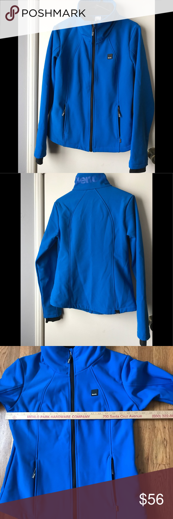 Bench Womens Blue Jacket Size Xl Front Zip Vibrant Blue Women S Bench Front Zip Jacket In An Xl Good Gently Used Condition No Col Bench Jackets Jackets Women