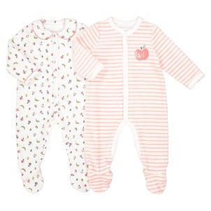 302e0707420d1 Lot de 2 pyjamas en velours 0 mois - 3 ans La Redoute Collections - Pyjama