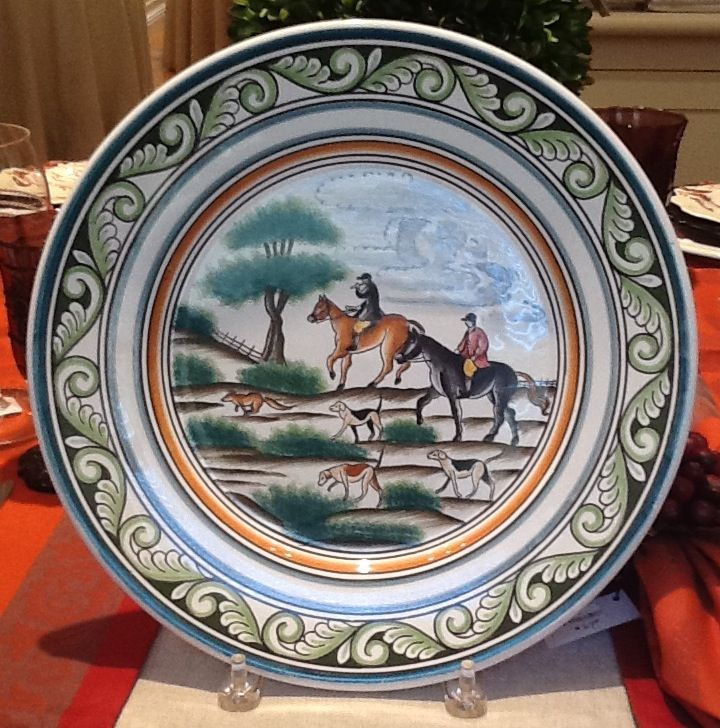 Century Hunt dinnerware by C. Corey - Hand-painted in Portugal : ce corey dinnerware - pezcame.com