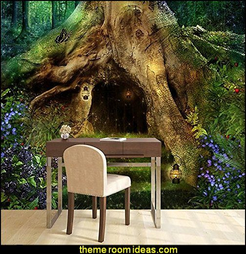 Magical Tree House In A Forest Fantasy Fairytale Wall Mural   Perfect For  The Fairy Forest. Forest Theme BedroomsForest ...