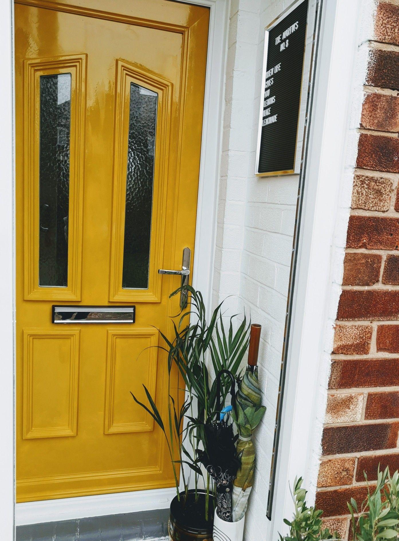 Painted Upvc Front Door Painted Upvc Door Yellow Front Doors