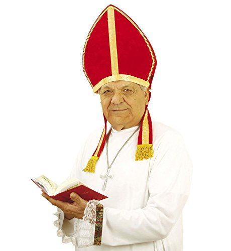 Pontiff Hat Pope/'s Hat Red And Gold Fancy Dress Party Accessory