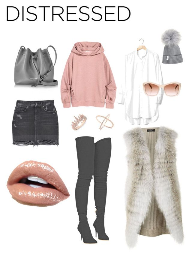 """""""Grey and blush"""" by gabrielle-spinelli on Polyvore featuring MANGO, Balmain, Gap, Chanel, Harrods, Anne Sisteron and Lancaster"""