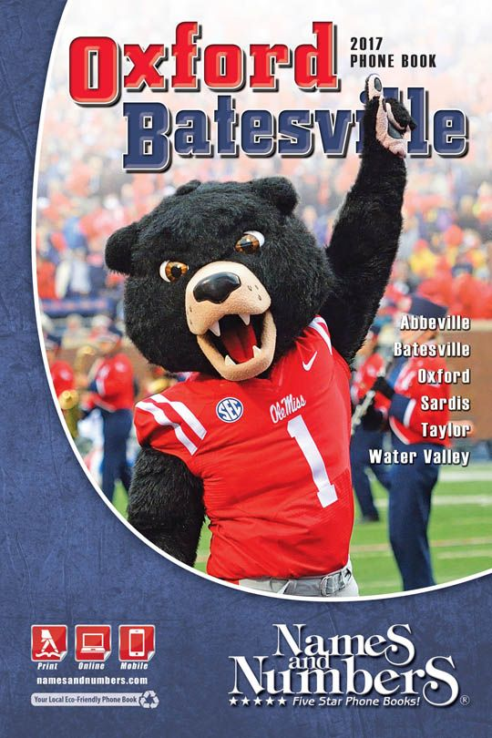 OXFORD / BATESVILLE (Mississippi) 2017 Phone Book Visit oxford