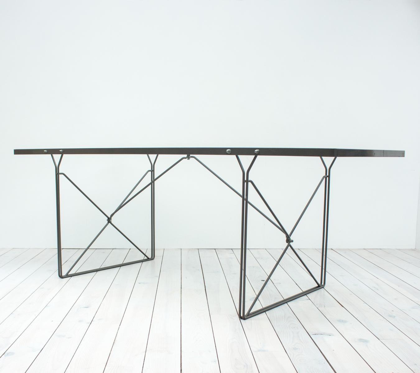 Mesa de comedor Moment de vidrio de Niels Gammelgaard para Ikea ...