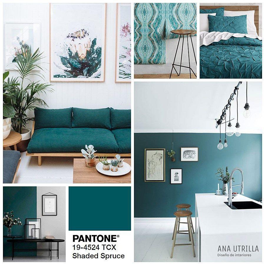 Shaded spruced color pantone 2017 2018 tendencia en oto o for Decoracion de interiores tendencias 2018