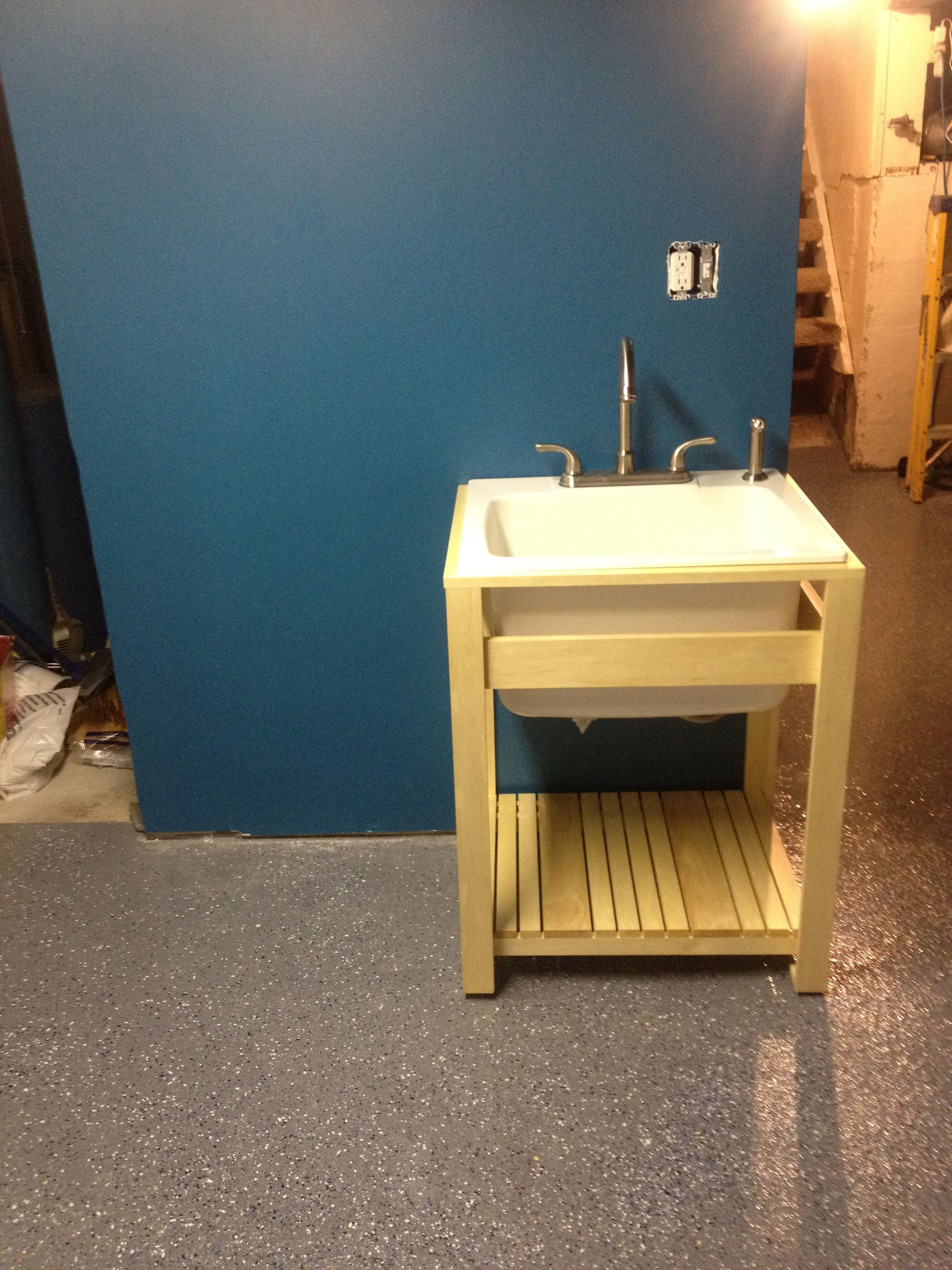 Laundry tub stand. My version inspired from similar Kohler design ...