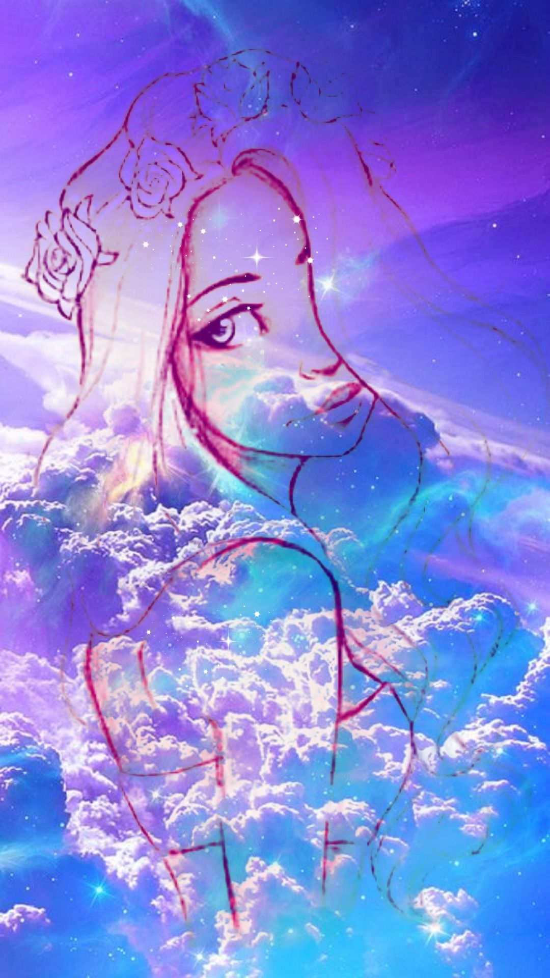 wallpapers for phone girl galaxy Hipster girl galaxy
